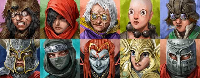 Desktop Dungeons characters